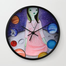 My hair is being pulled by the stars again Wall Clock