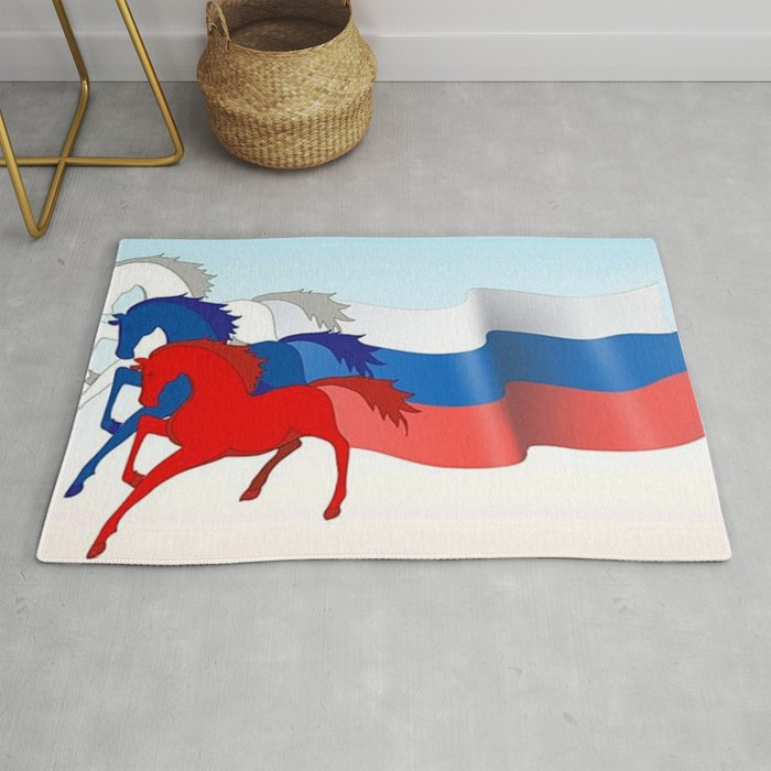 Horse flag of Russia Rug by