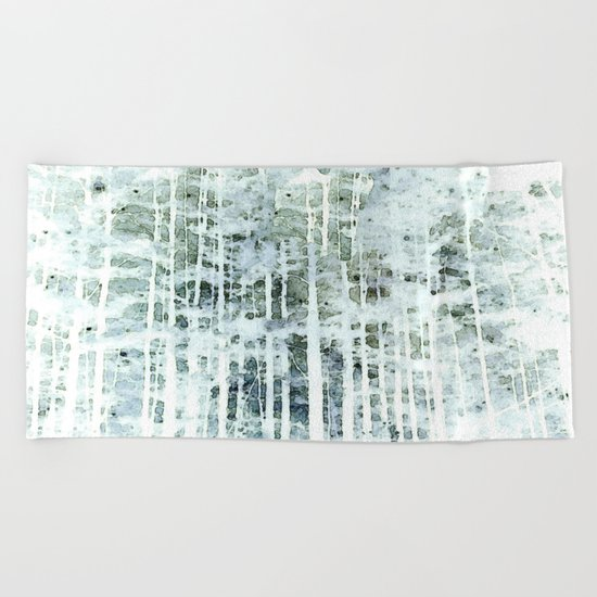 Painterly Woodlands Abstract Beach Towel