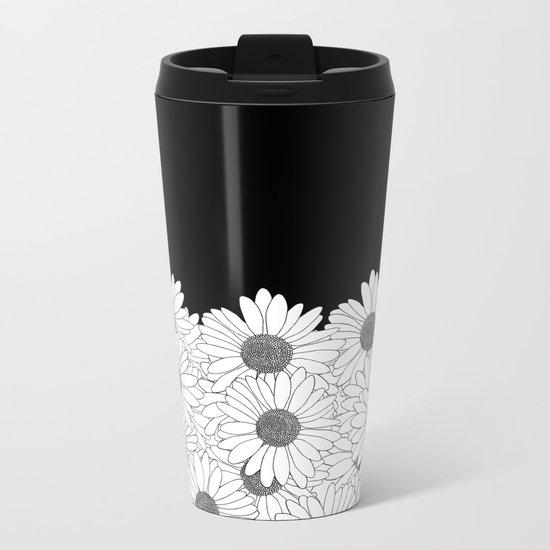 Daisy Boarder Metal Travel Mug