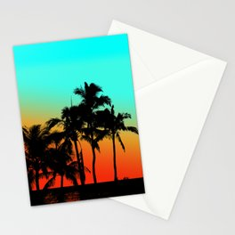 Maui Sunset Palms Stationery Cards