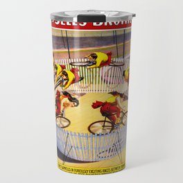 Vintage Bicycle Circus Act Travel Mug