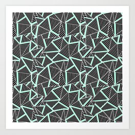 Ab 2 Repeat Mint Art Print