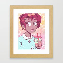 Bubble Tea Dreams Framed Art Print