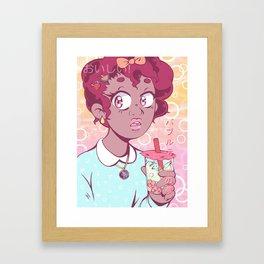 Bubble Tea Dreams Framed Art Print