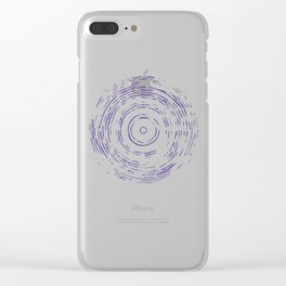 Violet Rainbow Clear iPhone Case