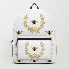 French Bee acorn wreath Backpack