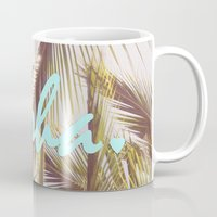 aloha Mugs featuring ALOHA by The Pixel Gypsy