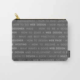 Gray Web Design Keywords Poster Concept Carry-All Pouch