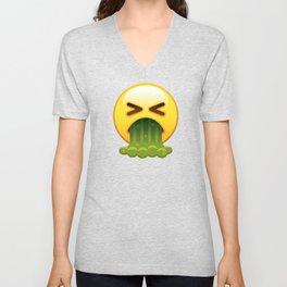 Barfing Emoji Unisex V-Neck