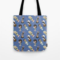 1d Tote Bags featuring Sleepy 1D by Ashley R. Guillory