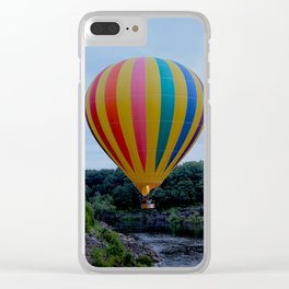 Balloon Over a River Clear iPhone Case