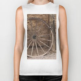 Tombstone Wall and Wheel  Biker Tank