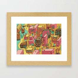 Deertown Framed Art Print