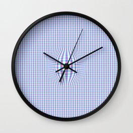Checkered Illusion  Wall Clock