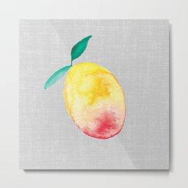 Exotic watercolor mango Metal Print