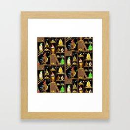 Chicken Coop Christmas - funny chickens, farm, holidays Framed Art Print
