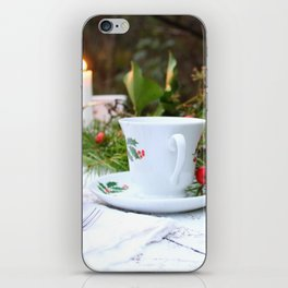Outdoor Christmas Table iPhone Skin