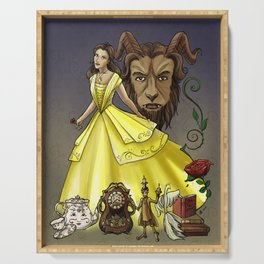 Belle and the Beast Serving Tray