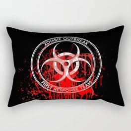 Zombie Outbreak First Response Team Rectangular Pillow
