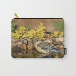 young bird bathes Carry-All Pouch