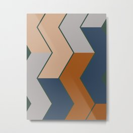Modern Fall Winter Color Pattern Metal Print