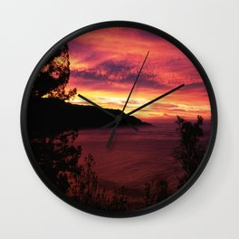 Sunset * Big Sur, California Wall Clock