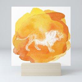 Color Spot Safari Lion Mini Art Print