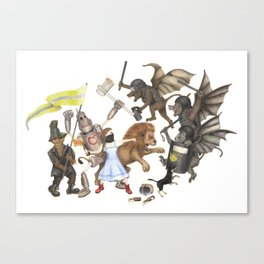 The True Tale of Evil Wizards and Witches Canvas Print