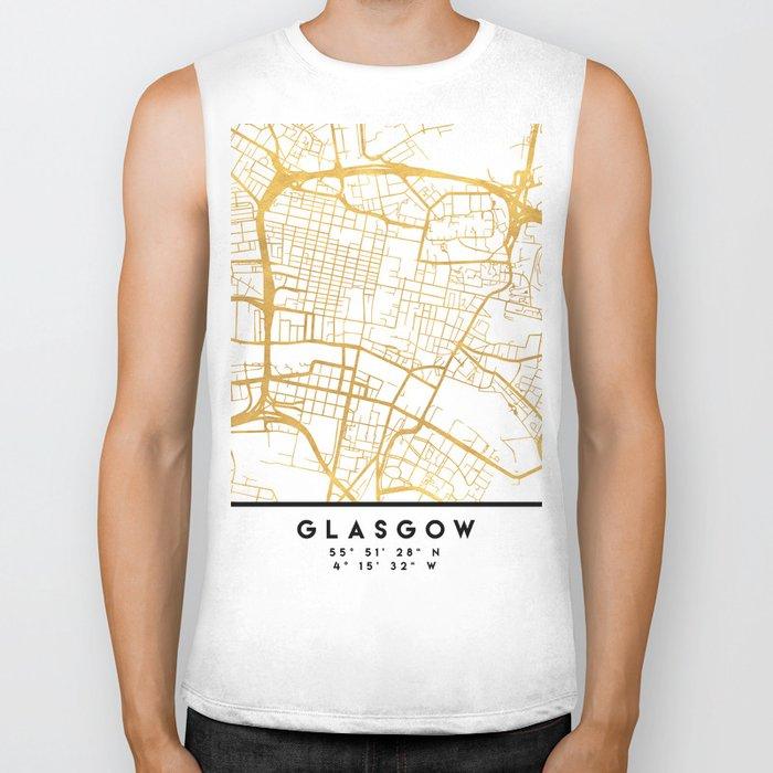 GLASGOW SCOTLAND CITY STREET MAP ART Biker Tank