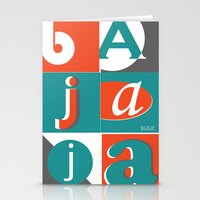 typo Stationery Cards featuring Bajaja Typo by Bajaja