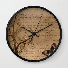 The Butterfly II Wall Clock