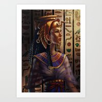 egyptian Art Prints featuring Egyptian by Ayu Marques