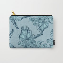 Hawaiian Blue Teal Island Pattern Carry-All Pouch
