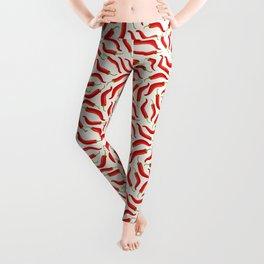 Hot red chili pepper pattern Leggings