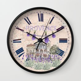 Provence France - my love  - Lavender and Summer Wall Clock