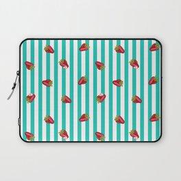 Sassy Strawberry Stripes Laptop Sleeve