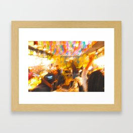 Its always a party in NYC Framed Art Print