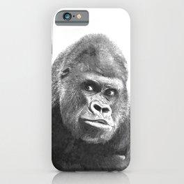 Black and White Gorilla iPhone Case
