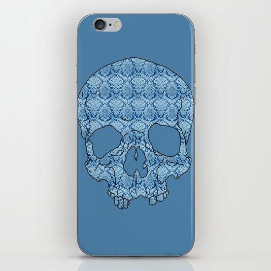 Vintage blue skull iPhone & iPod Skin