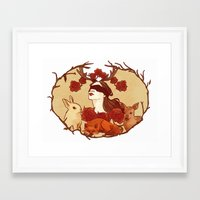 fawn Framed Art Prints featuring fawn by chazstity