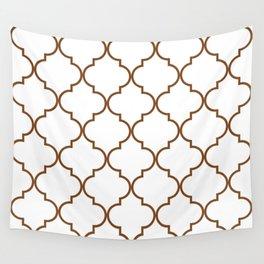 Quatrefoil - Tawny Brown Wall Tapestry