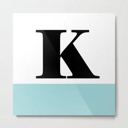 Monogram Letter K-Pantone-Limpet Shell Metal Print
