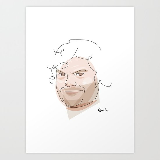 Portrait: Jack Black Art Print