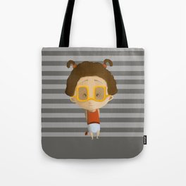 Girl with a flower Tote Bag