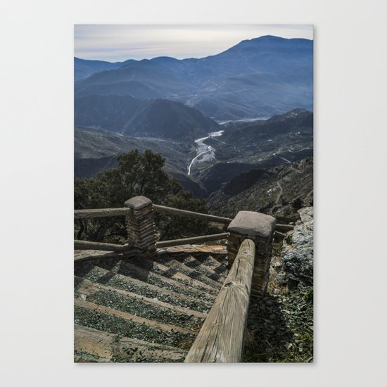 Stairway to the valley Canvas Print