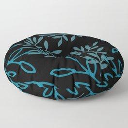 Leafy Teal Floor Pillow
