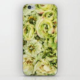 Green Flowers iPhone Skin
