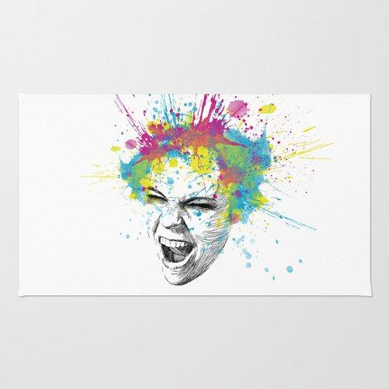 Crazy Colorful Scream Rug