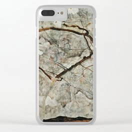 Egon Schiele - Autumn Tree In Stirred Air. Winter Tree Clear iPhone Case